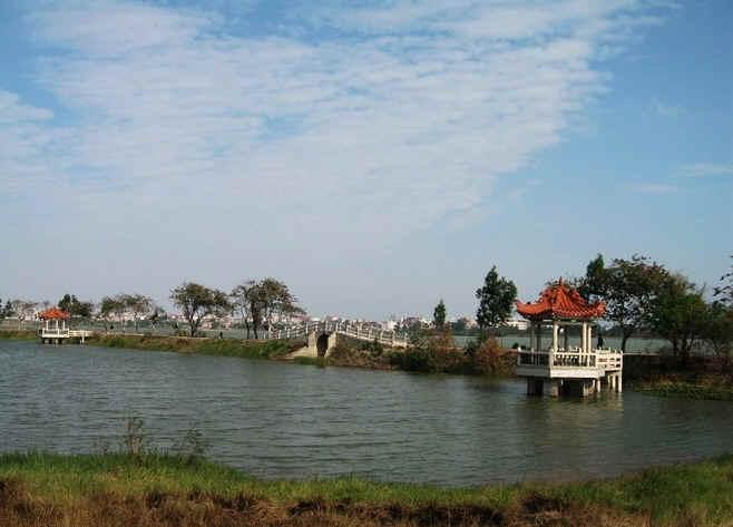 晋江龙湖水库风景